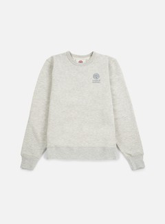 Franklin & Marshall - Basic Logo Embroidery Crewneck, Original Grey 1