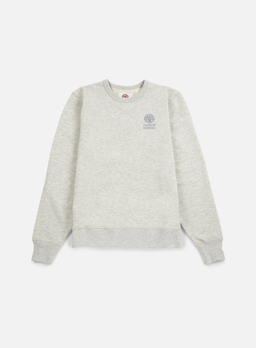 Franklin & Marshall - Basic Logo Embroidery Crewneck, Original Grey