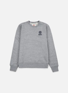 Franklin & Marshall - Basic Logo Embroidery Crewneck, Sport Grey