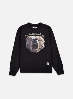 Franklin & Marshall - Bear Crewneck, Black Shadow 1