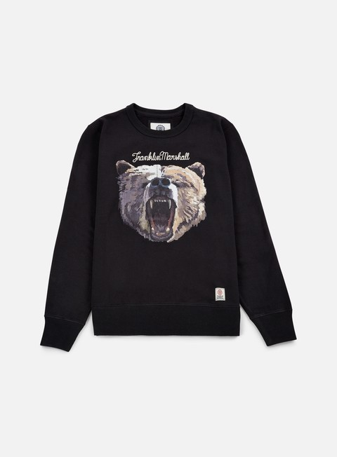 felpe franklin e marshall bear crewneck black shadow
