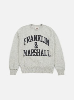 Franklin & Marshall - Big Logo Crewneck Fleece, Sport Grey Melange