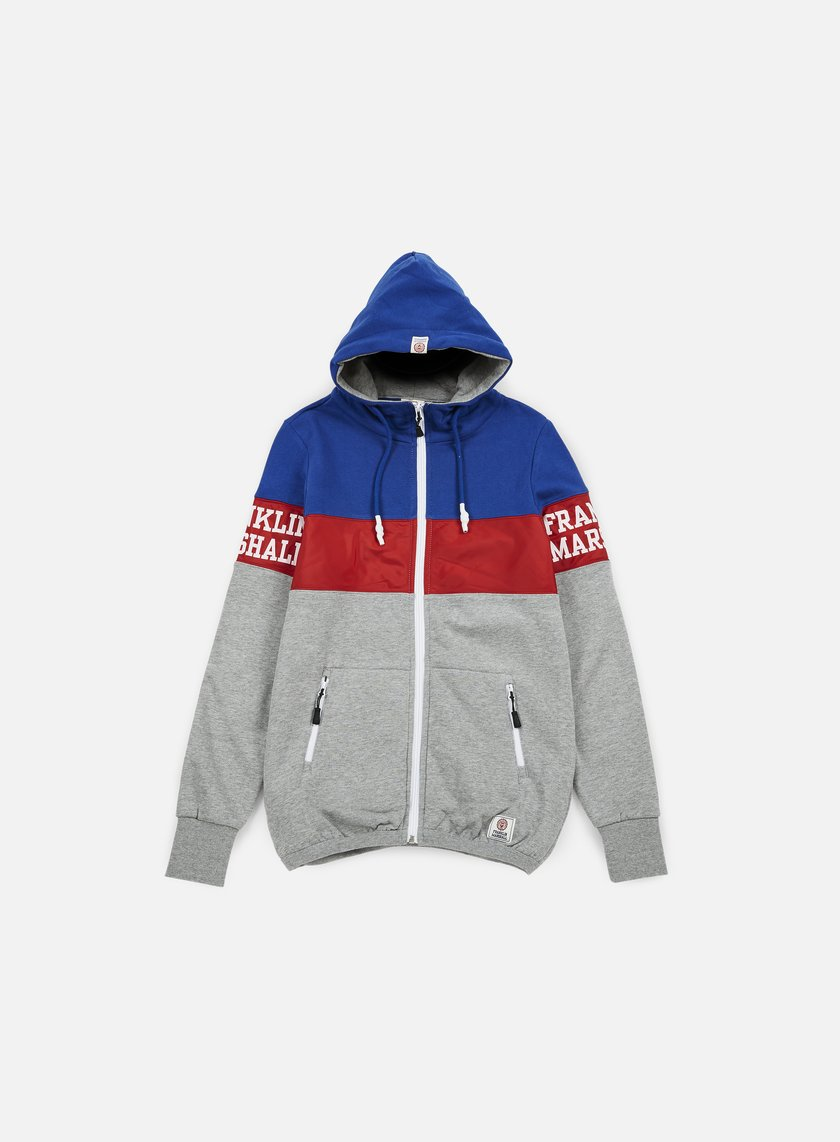 Franklin & Marshall - Block Zip Hoodie, Sport Grey