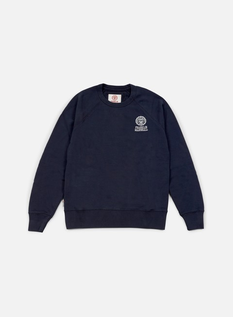 felpe franklin e marshall crewneck fleece navy