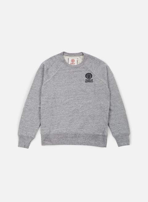 felpe franklin e marshall crewneck fleece sport grey melange