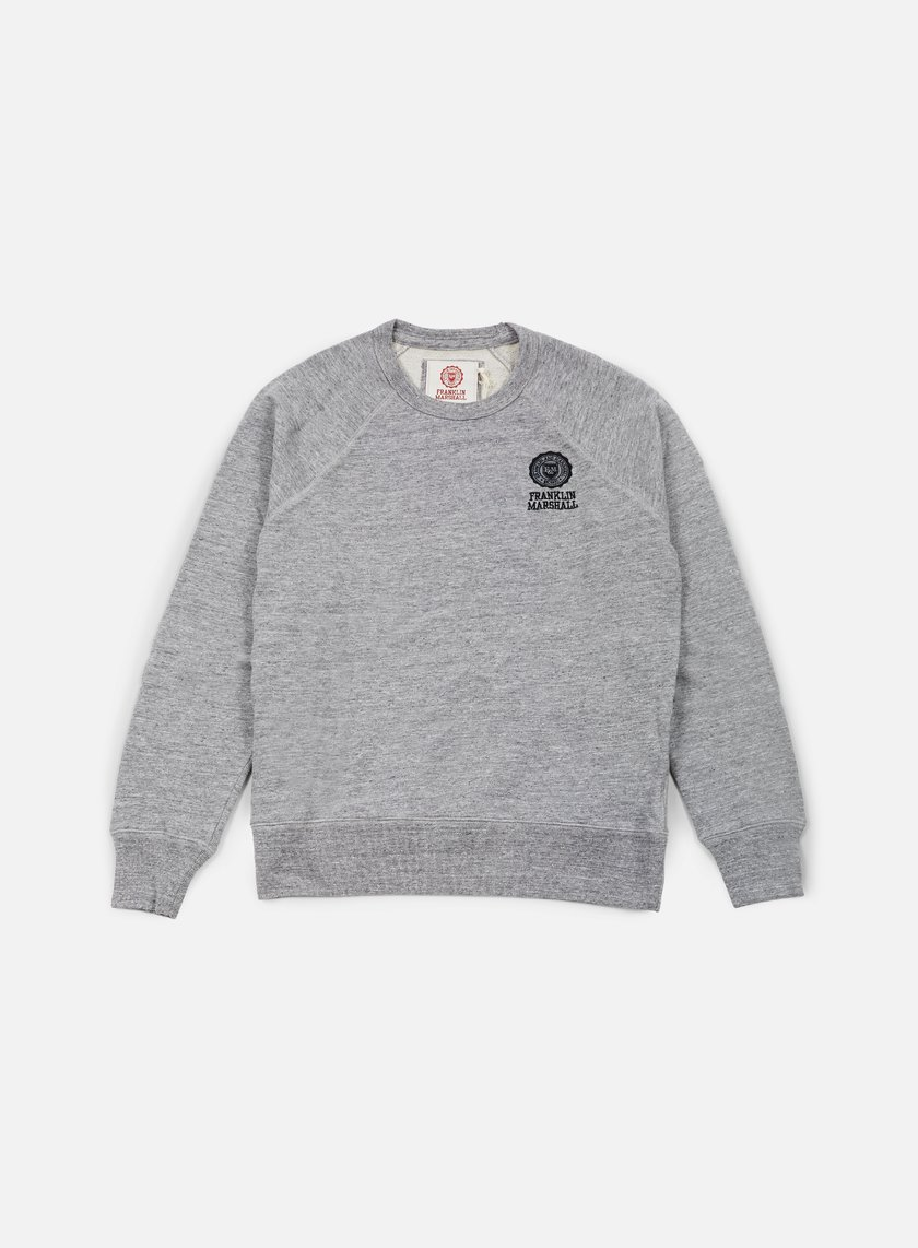 Franklin & Marshall - Crewneck Fleece, Sport Grey Melange