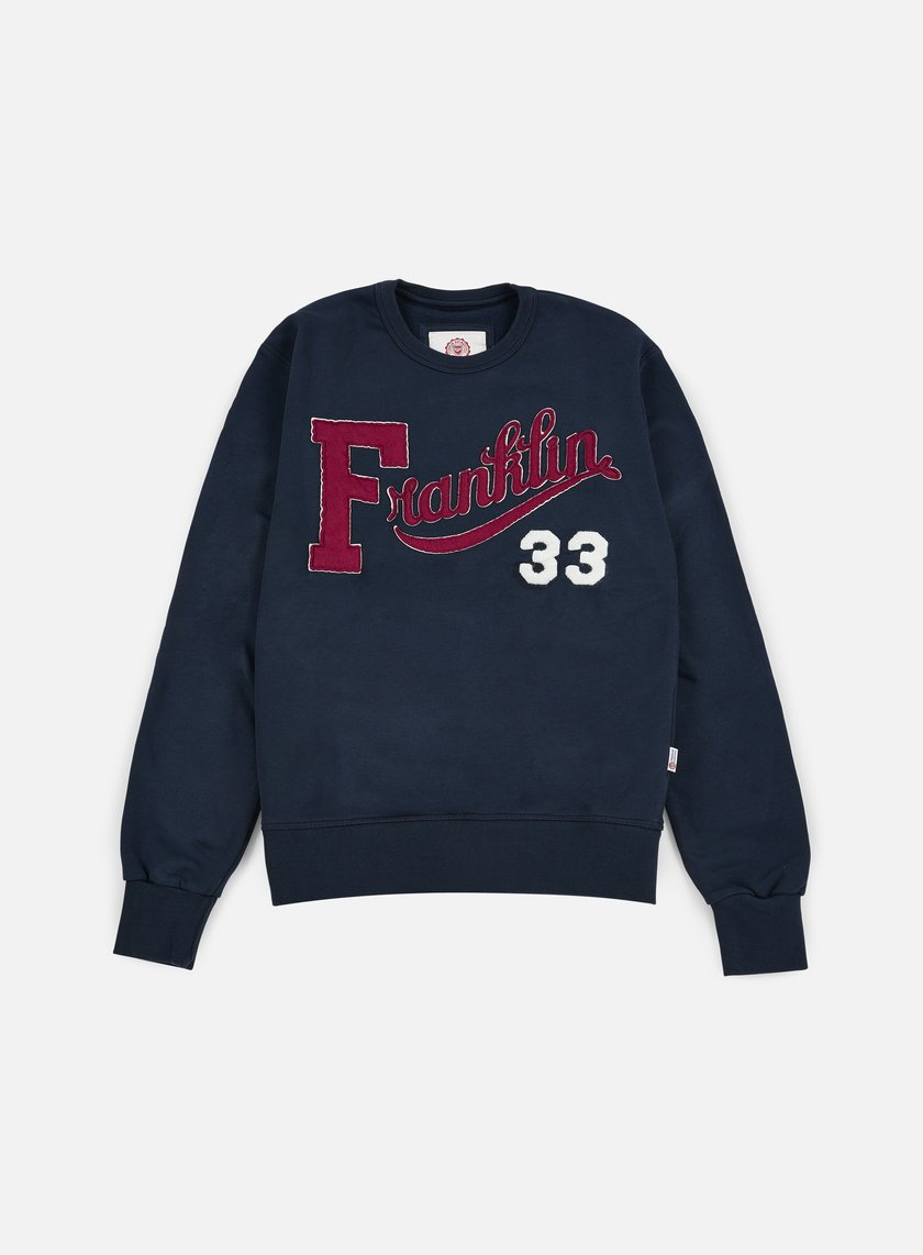 Franklin & Marshall - Franklin Embroidered Crewneck, Navy