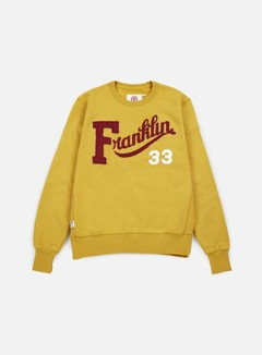 Franklin & Marshall - Franklin Embroidered Crewneck, Vintage Gold 1