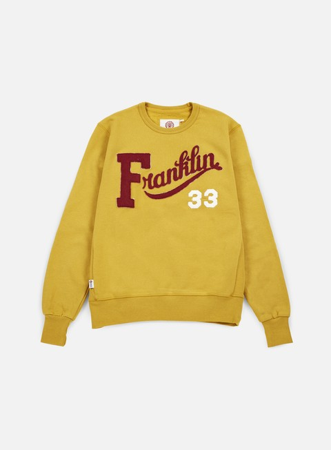 felpe franklin e marshall franklin embroidered crewneck vintage gold