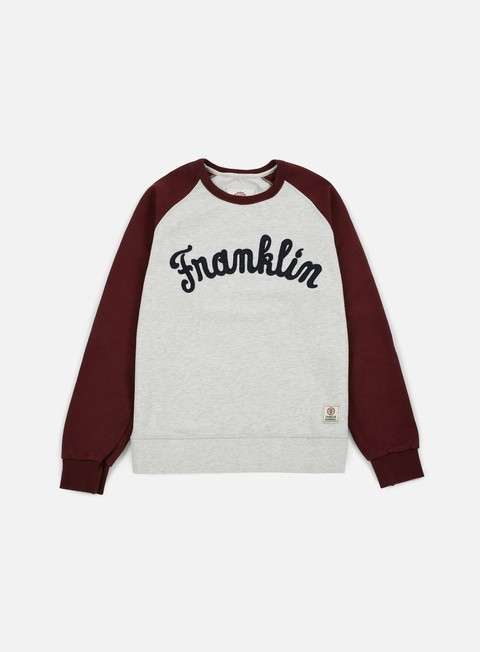 felpe franklin e marshall franklin raglan crewneck bordeaux