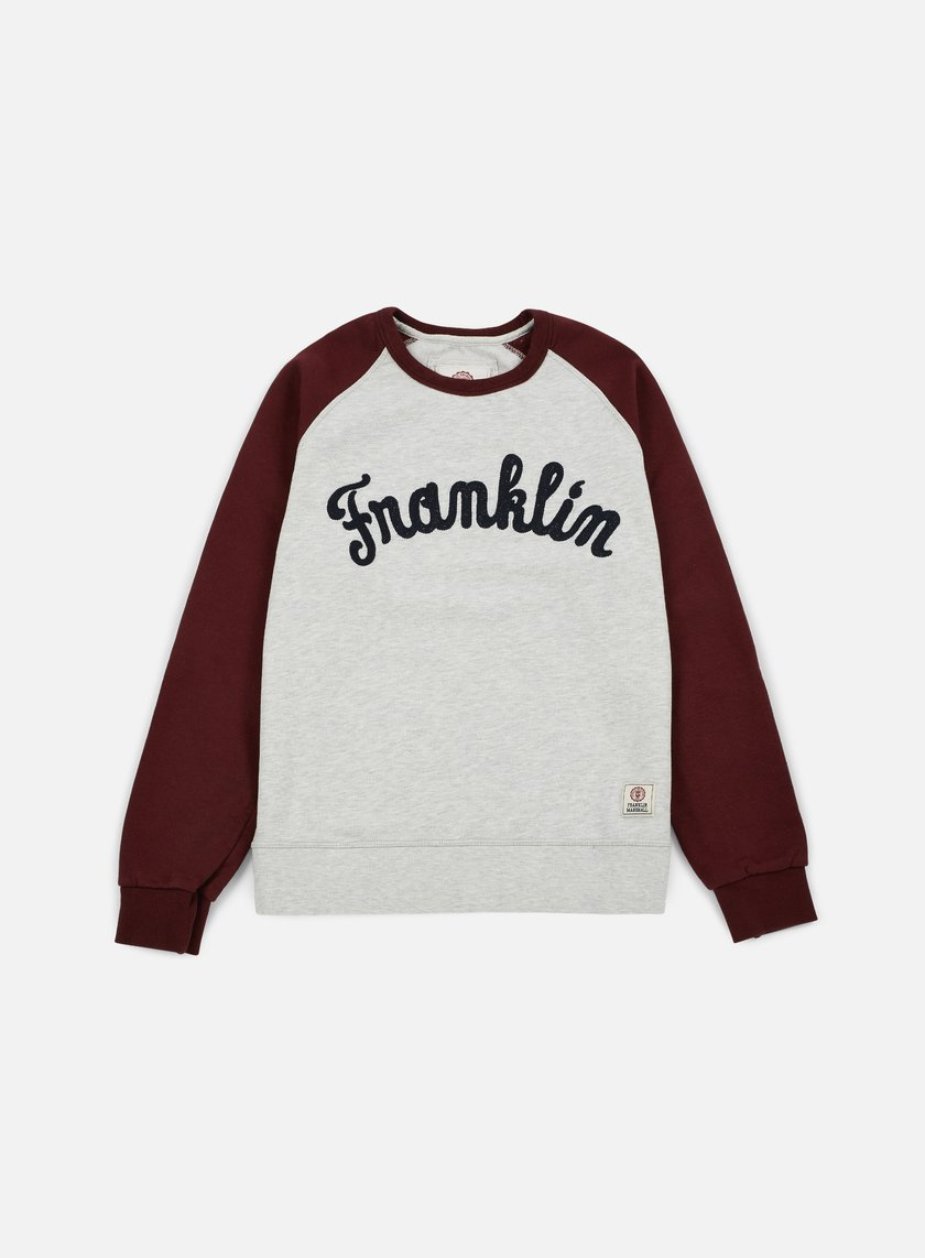Franklin & Marshall - Franklin Raglan Crewneck, Bordeaux