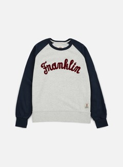 Franklin & Marshall - Franklin Raglan Crewneck, Original Grey 1