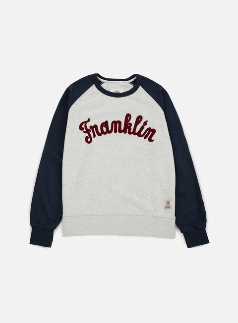 felpe franklin e marshall franklin raglan crewneck original grey