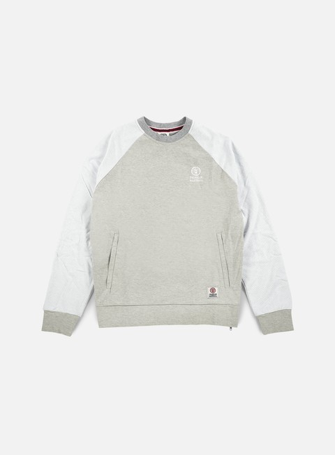 felpe franklin e marshall mesh raglan crewneck fleece original grey melange
