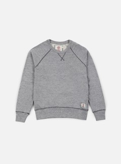 Franklin & Marshall - Raglan Crewneck Fleece, Sport Grey Melange 1