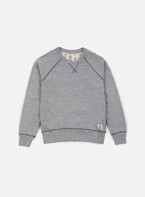 felpe franklin e marshall raglan crewneck fleece sport grey melange