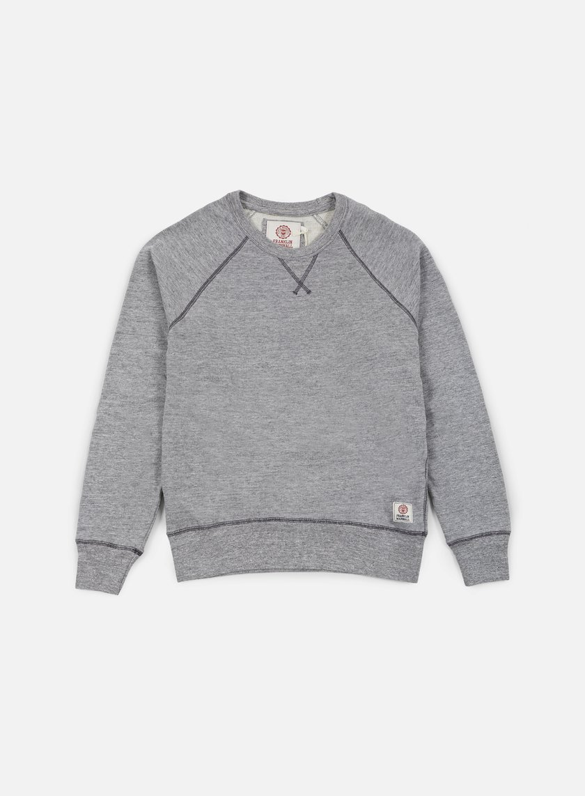 Franklin & Marshall - Raglan Crewneck Fleece, Sport Grey Melange