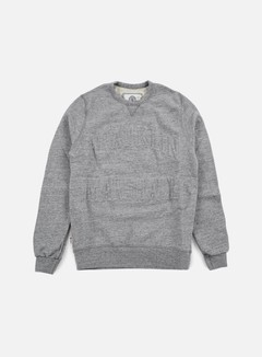 Franklin & Marshall - Relief Crewneck Fleece, Sport Grey Melange 1