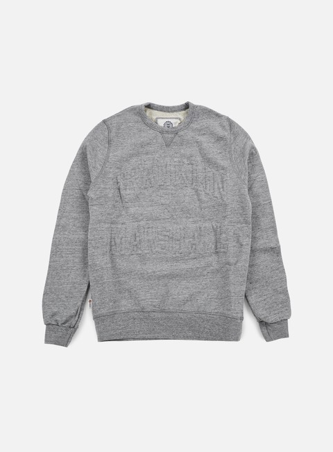 felpe franklin e marshall relief crewneck fleece sport grey melange