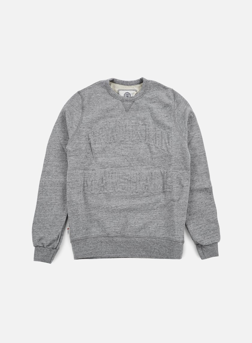 Franklin & Marshall - Relief Crewneck Fleece, Sport Grey Melange