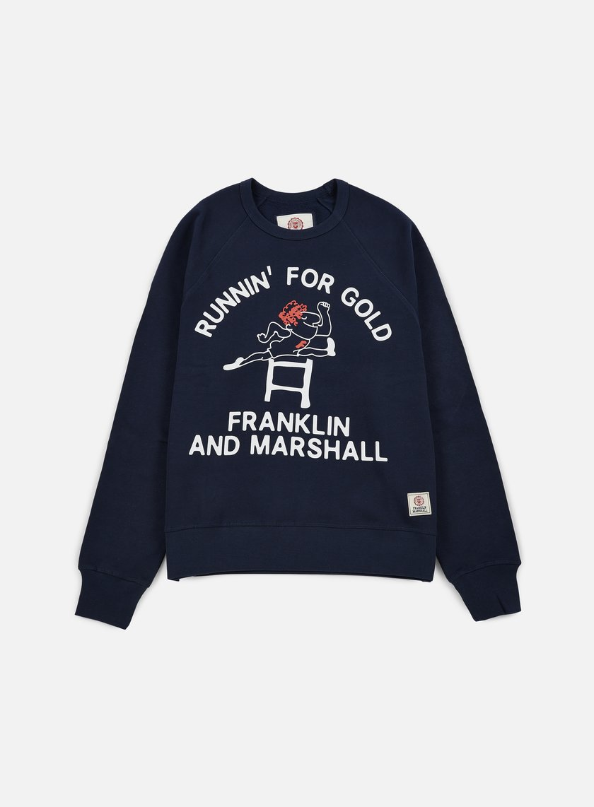 Franklin & Marshall - Runnin' For Gold Crewneck, Navy