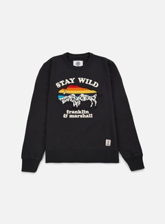 Franklin & Marshall - Stay Wild Crewneck, Black Shadow 1