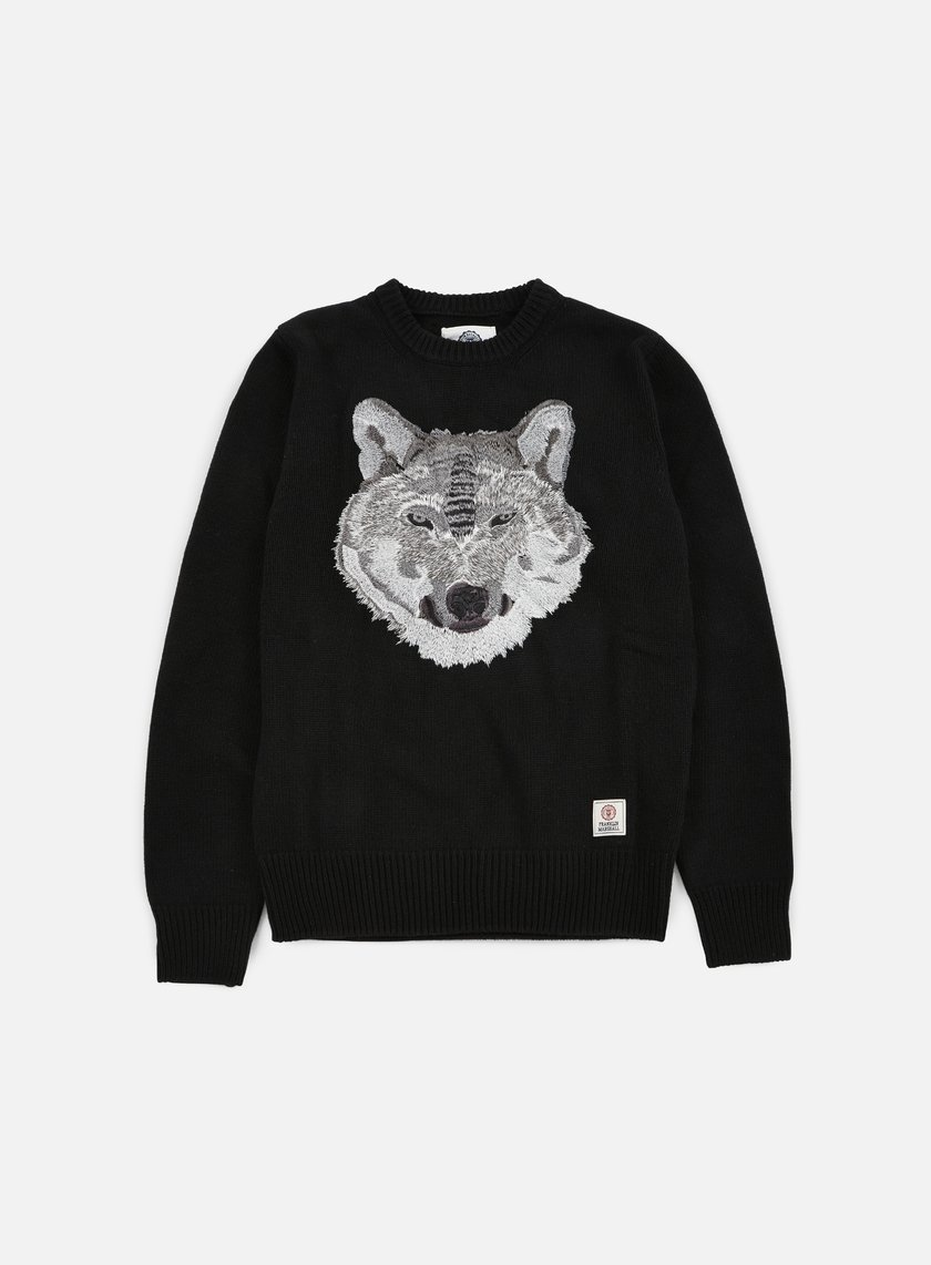 Franklin & Marshall - Wolf Crewneck Sweater, Black