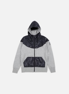 Franklin & Marshall - Zip Up Hoodie Fleece, Grey Melange 1