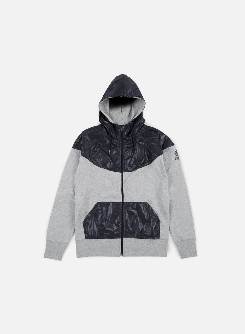 Franklin & Marshall - Zip Up Hoodie Fleece, Grey Melange
