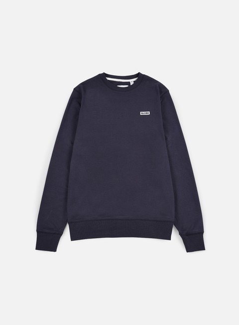 felpe globe bar crewneck dusty navy