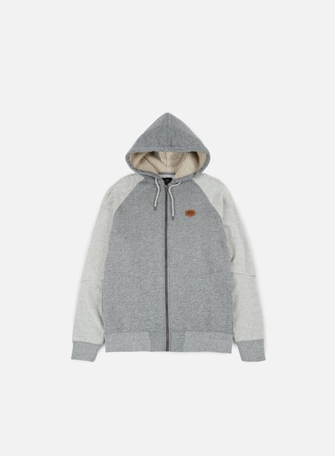 felpe globe fairhaven hoodie grey heather