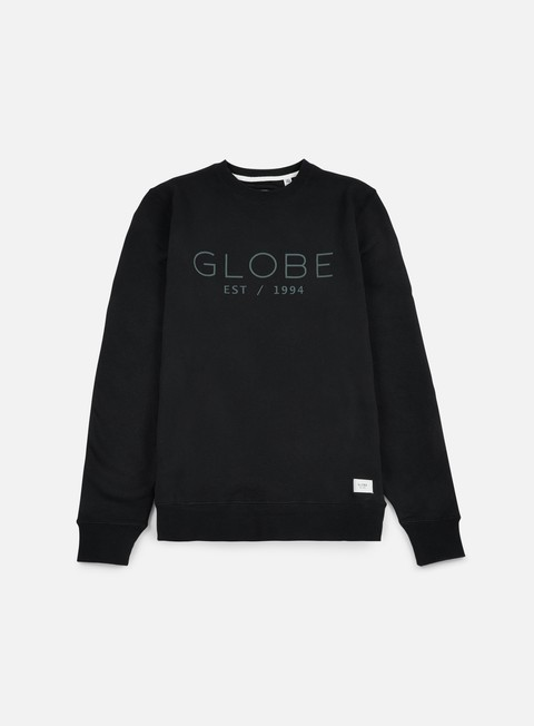 felpe globe mod crewneck black