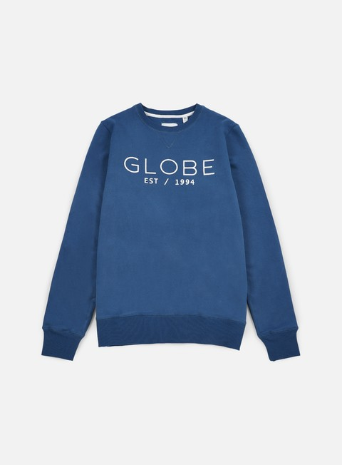 felpe globe mod crewneck moroccan blue