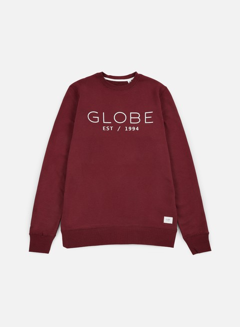 felpe globe mod crewneck wine