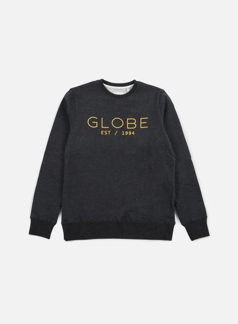 felpe globe mod ii crewneck dark charcoal