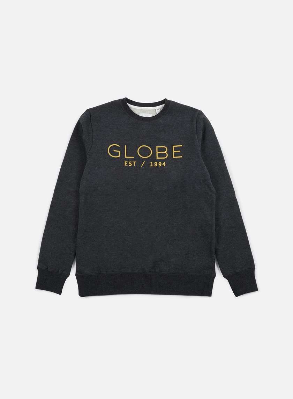 Globe - Mod II Crewneck, Dark Charcoal