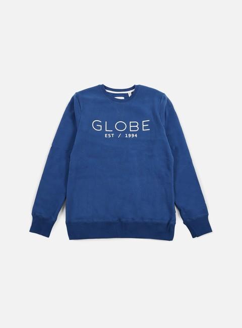 felpe globe mod ii crewneck moroccan blue
