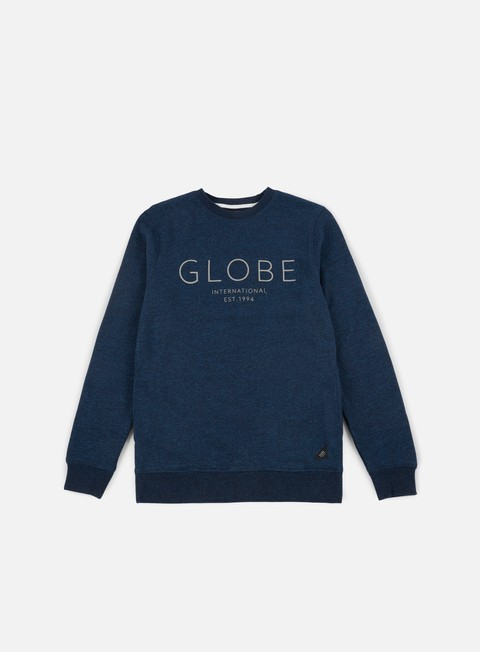 felpe globe mod iv crewneck cosmic blue