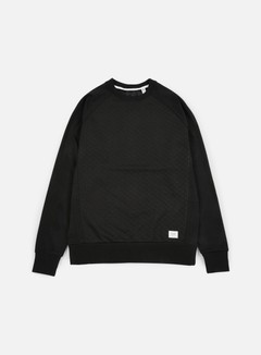 Globe - Quilted Crewneck, Black 1