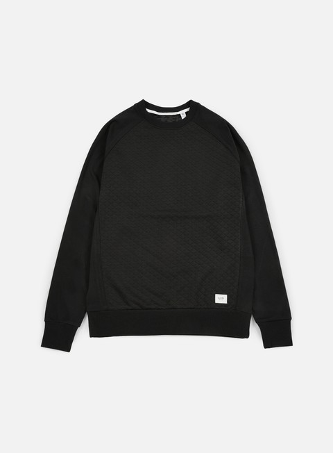 Globe Quilted Crewneck