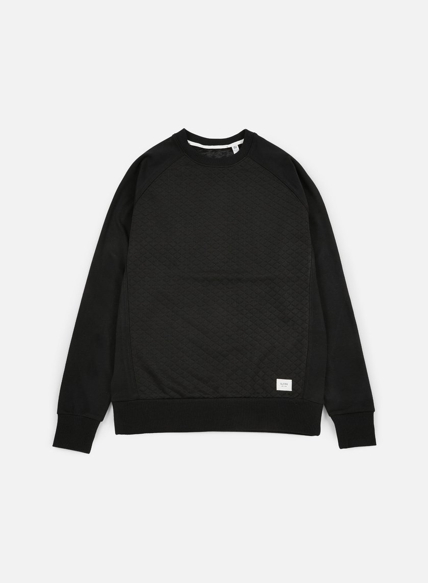 Globe - Quilted Crewneck, Black