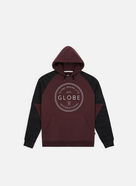 felpe globe winson hoodie wine