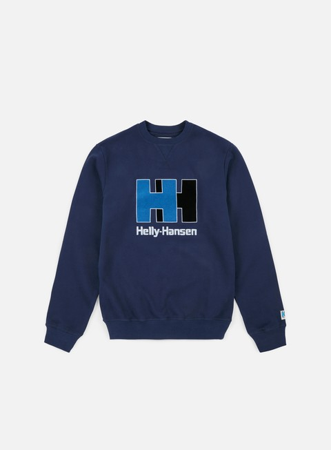 felpe helly hansen hh crewneck evening blue