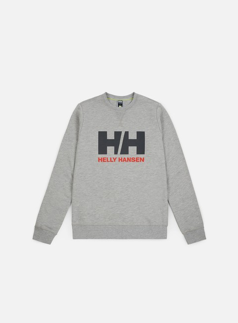 felpe helly hansen hh logo crewneck grey melange
