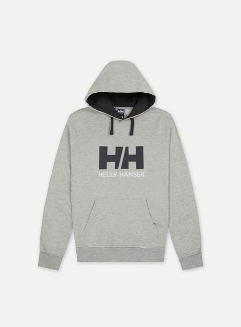 felpe helly hansen hh logo hoodie grey melange
