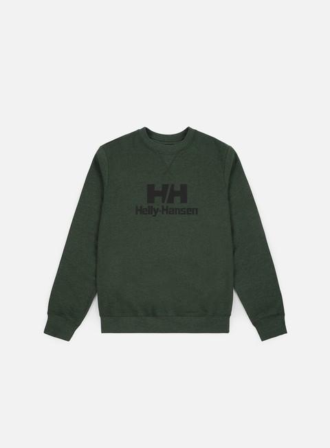 felpe helly hansen hh rubber logo crewneck mountain green