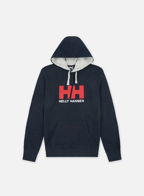 felpe helly hansen logo hoodie navy