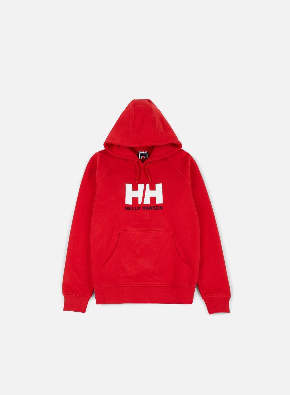 Helly Hansen - Logo Hoodie, Red