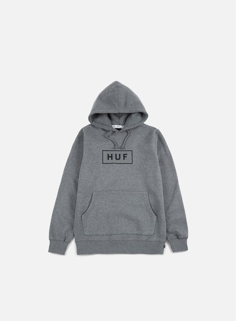 felpe huf bar logo hoodie gunmetal heather