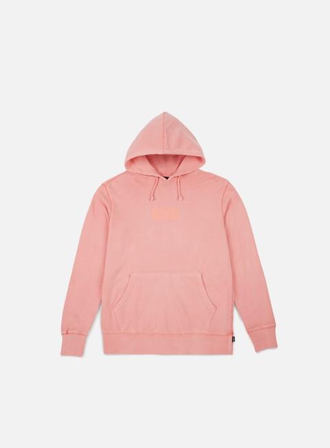 felpe huf bar logo overdyed hoodie rose